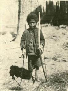 Bambino Negritos - foto da cartolina 1902- 1907