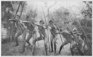 Negritos - gruppo di arcieri