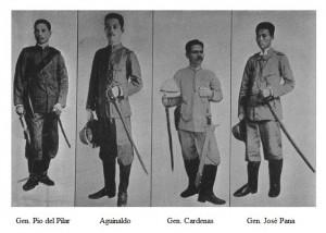 Generali filippini con sciabola