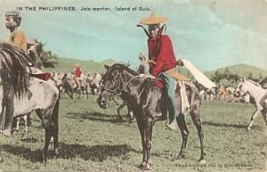 Guerriero Jolo in sella ad un cavallo - Inizio 1900