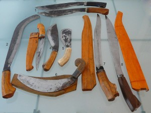 Armi da taglio originarie dell'Isola di Cebu