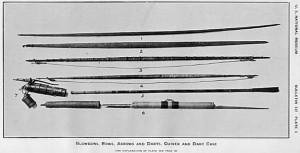 Krieger - Tav. 2 - Cerbottane, archi, frecce, dardi e faretre