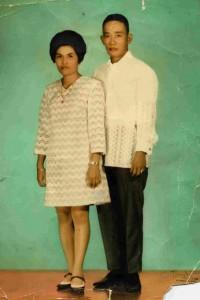 Aurtenciano Miranda Sr e sua moglie
