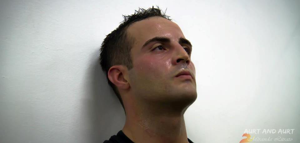 Andrea Rollo dopo allenamento - ritaglio