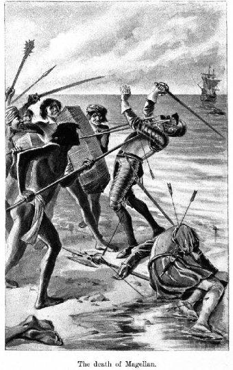 Storia del Kali filippino arnis escrima - la morte di Magellano