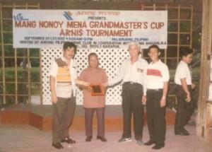 "1st ""Mang Nonoy"" Mena Grandmaster's Cup Arnis Tournament (settembre 1992)"