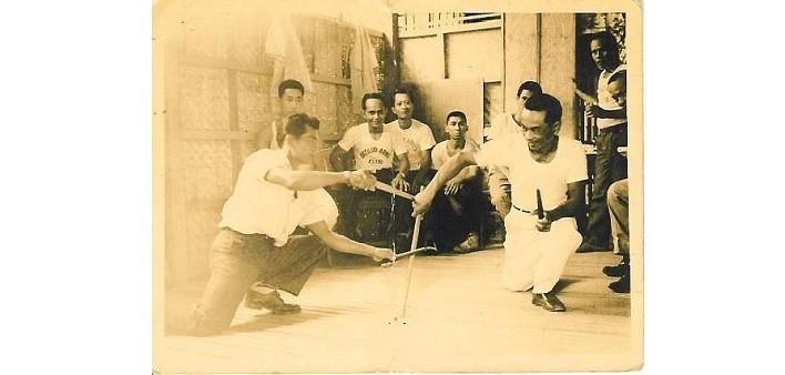 Amador Chavez presso il Bacolod Arnis Club