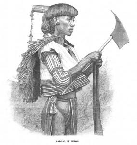 Guerriero filippino di etnia Gaddan