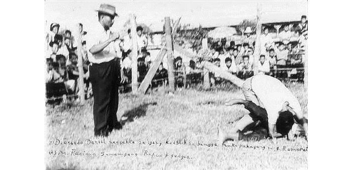 Jose Caballero durante un combattimento di dumog